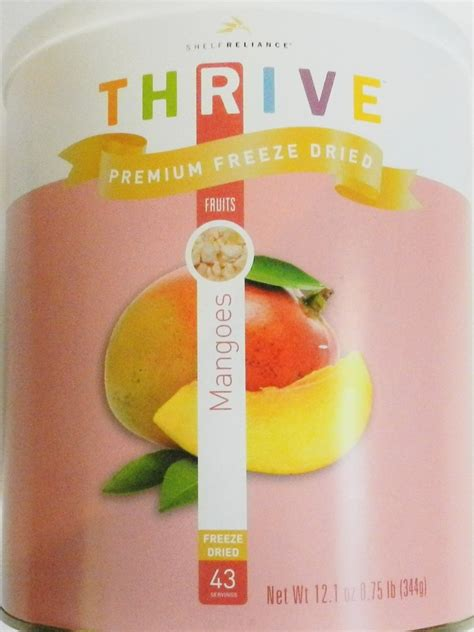 Freeze Dried Mango Slices mango slices freeze dried by thrive 43 servings certified gmo an american survival