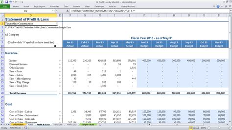 m s excel profit and loss with amount youtube