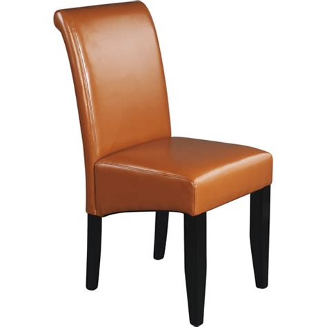 Leather Parsons Chair by Metro Parsons Chair Coffee Leather Walmart