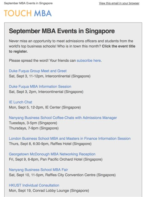 Forte Mba Tour by Get Monthly Alerts Of Top Business Schools In Your City