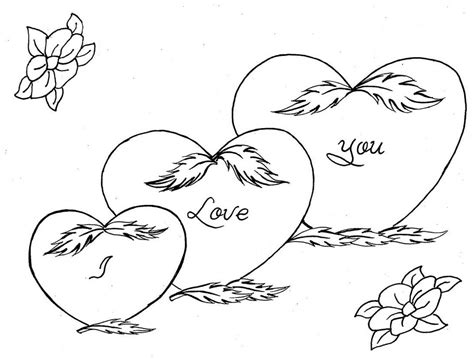 i you coloring pages hearts coloring