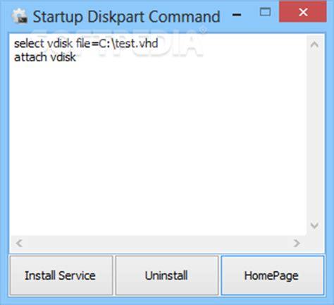 format vhd diskpart startup diskpart command download