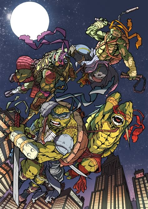 mutant turtles colors tmnt napoli comicon 2014 color by darnof on deviantart