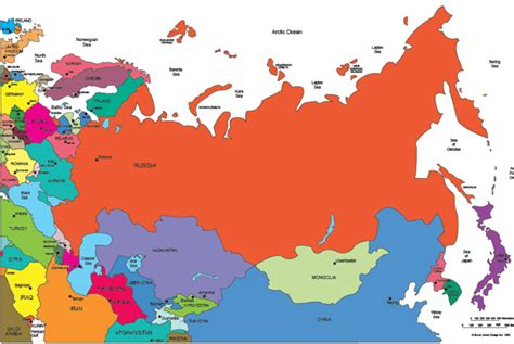 russia map and surrounding countries russia map and surrounding countries