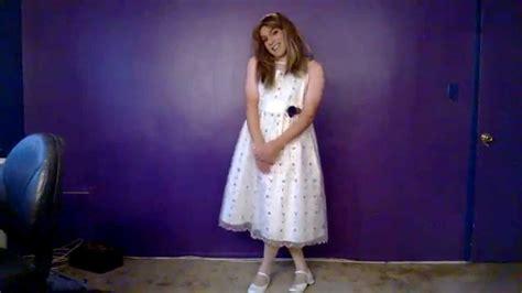 Dress Tenun Ayou Tupas Ntt crossdressing lovely white dress