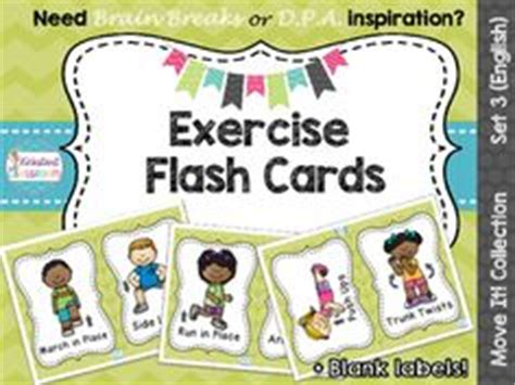 printable exercise flash cards 1000 images about for the classroom on pinterest