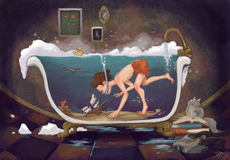 bathtub paintings depths of imagination by jennaleeauclair on deviantart