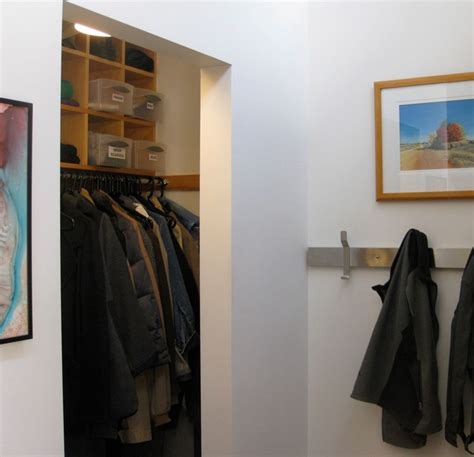 Modern Coat Closet by Doorless Coat Closet With Shelving Cubbies Modern