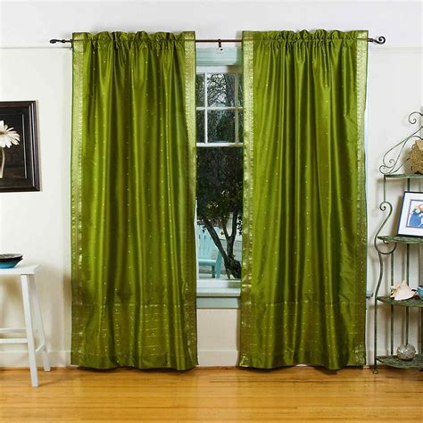 Sheer Green Curtains Curtain Panels House Home