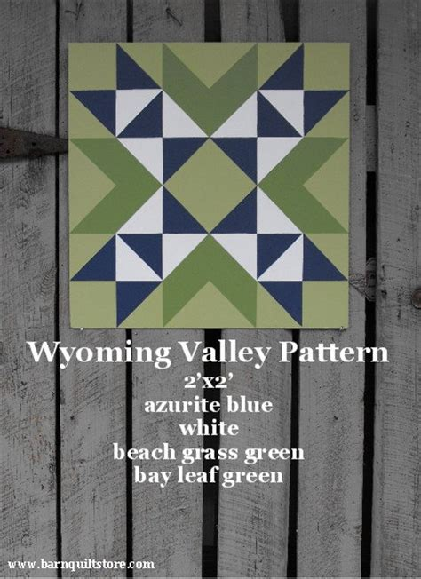 Items similar to painted wood barn quilt wyoming valley pattern on etsy