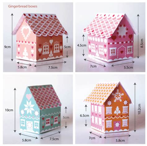 31 gift box printable templates gingerbread house