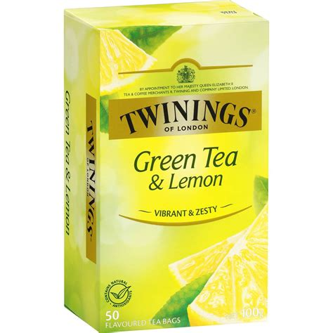 Does Lipton Green Tea Detox by Twinings Green Tea With Lemon Tea Bags 50pk 100g Woolworths