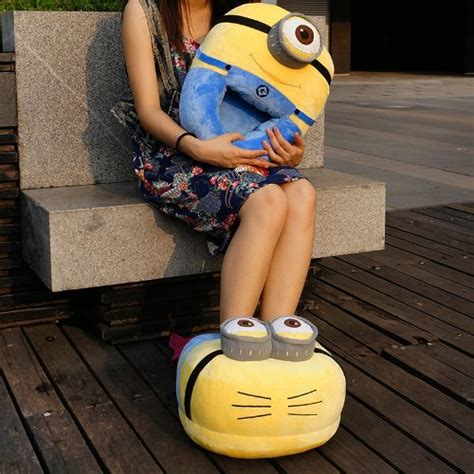 minion sneakers for adults creative despicable me minion figure large size plush