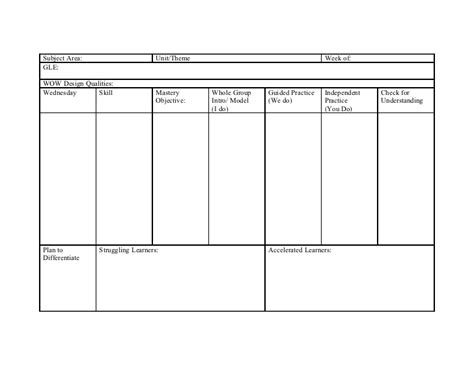 lesson plan template i do we do you do mc donogh 26 lesson plan template reading