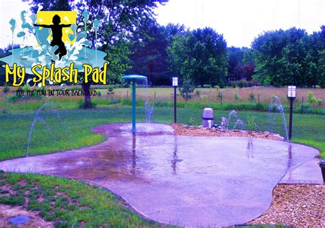 backyard splash park backyard splash pads residential splash pads landscaping network splash pad and