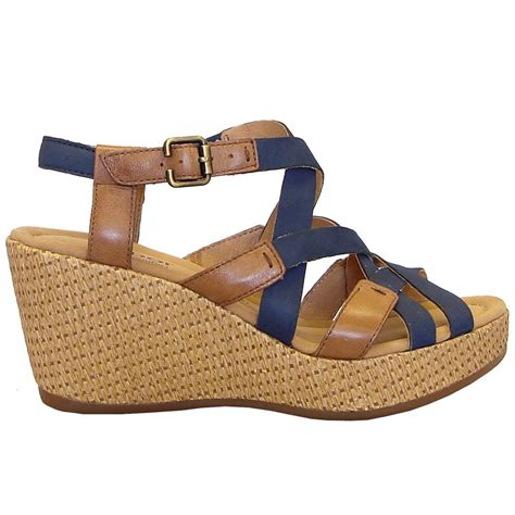 navy sandals gabor sandals plover wedge sandal in navy blue