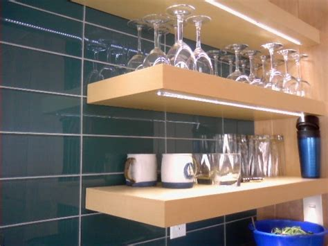 hardwood design white ash  open shelving