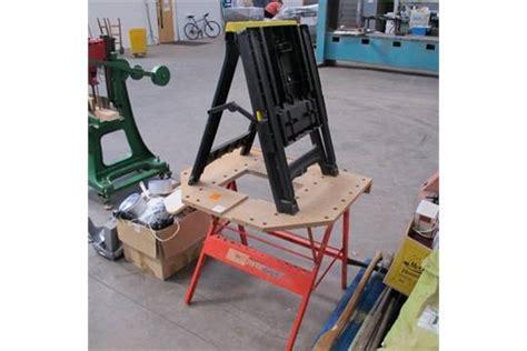 stanley folding work bench a dunlop powerbase folding work bench c w a stanley