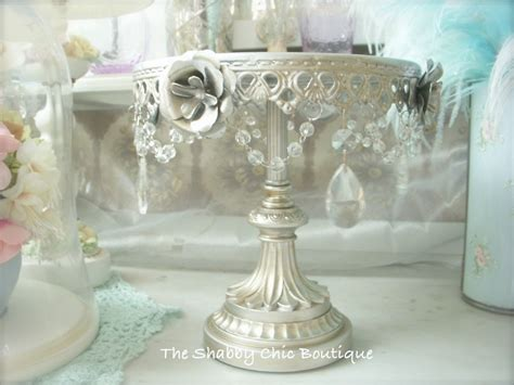 shabby crystal prisms garlands chic silver 2 tier