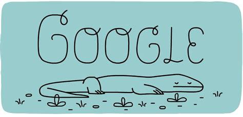 doodle hewan doodle memperingati 37 tahun taman nasional komodo