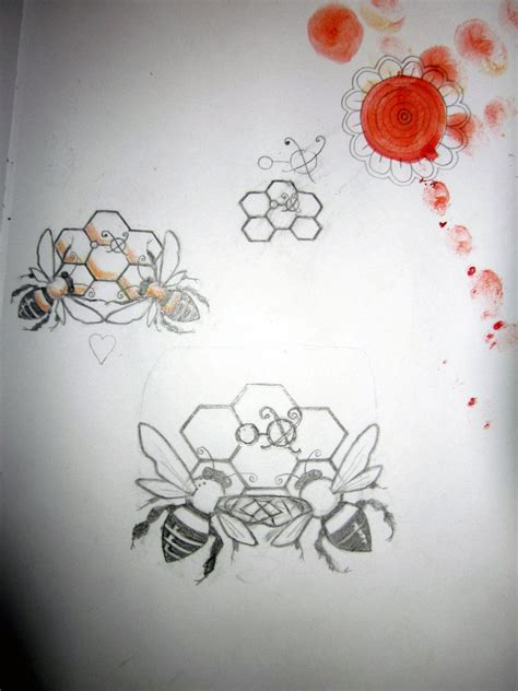 honey tattoo designs honey bee tattoos honey bee design by inkylitso