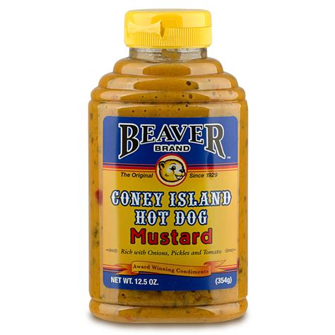 can dogs mustard new beaver coney island mustard 354g ebay