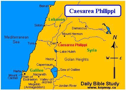 caesarea philippi map bible study caesarea philippi