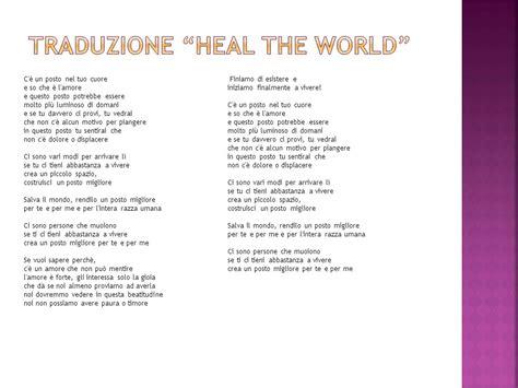 testo heal the world estetica dell amicizia ppt scaricare