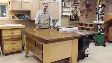 chop saw table height sawstop out feed table part 6b