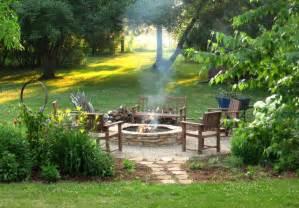 backyard fire pit landscaping ideas fire pit diy rustic landscape milwaukee by erin