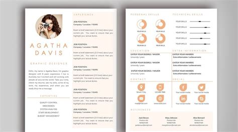 Resume Template With Design The Best Cv Resume Templates 50 Exles Design Shack