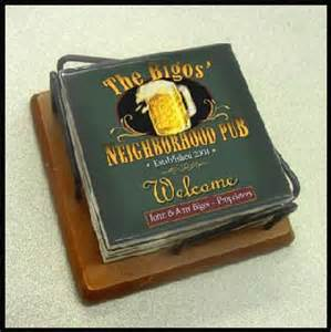 personalized bar coasters unique groomsmen gifts and