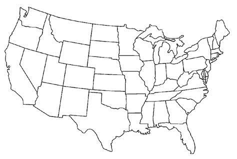 Us Map Photos Of Template Of Usa Map Usa Map With States Clipart Image 28472 Map Template