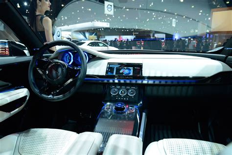 jaguar f pace inside jaguar f pace interior spyshots a peek inside new jag suv