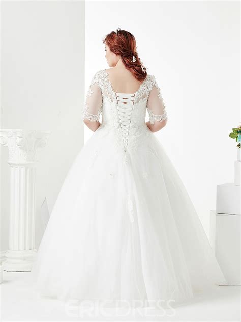 ericdress ball gown appliques beading  size wedding