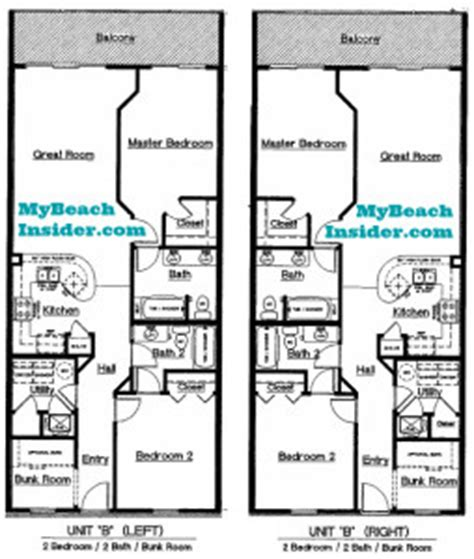 2 bedroom 2 bath condo floor plans celadon beach resort condo floor plans panama city beach