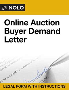 Demand Letter Nolo Auction Buyer Demand Letter Nolo