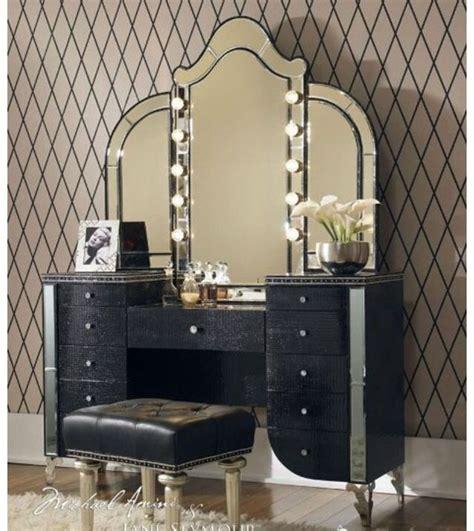 Makeup Vanity Black Classic Black Makeup Dresser Home Decore
