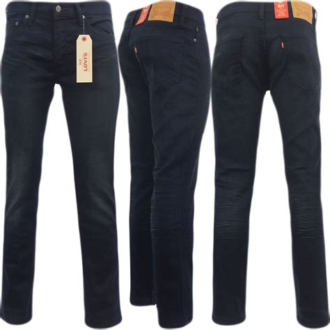 Levis 523 Skiny Navy Garment mens levi 511 slim fit jean ink blue with