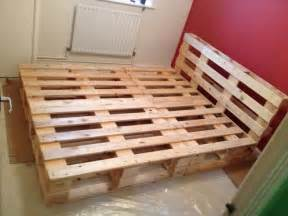 Bed Frame Made From Pallets Beautiful Diy Pallet Bed 99 Pallets