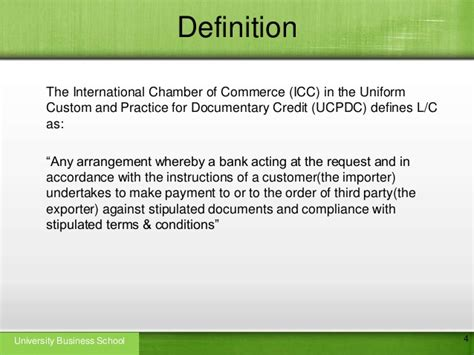 Letter Of Credit Key Terms Letter Of Credit