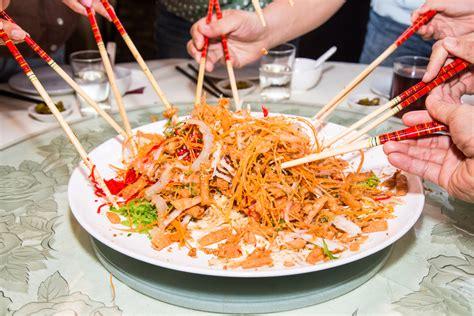 new year yu sheng yu sheng or prospertity toss a new year