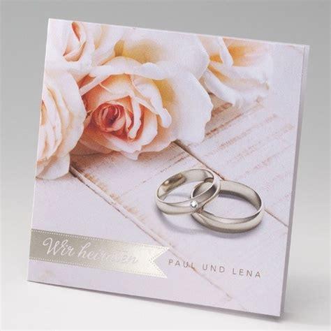 Eheringe Einladung by Einladungskarte Zur Hochzeit Mit Eheringen Und