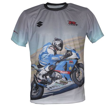 suzuki gsx r 1000 t shirt with logo and all printed