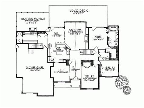 ranch home plans open concept cottage house plans