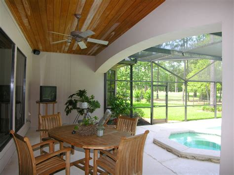 Outdoor Patio Wood Ceiling by Longwood Home Tours