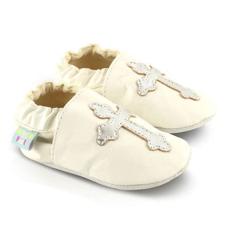 christening soft leather baby shoes by snuggle