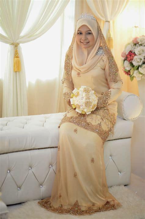Baju Akad Nikah Warna Gold wawa syaida bridal boutique complete set baju nikah untuk disewa solemnization dress for rent