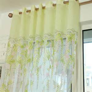 Light Green Curtains Fabulous Light Green Floral Print Yarn Sheer Curtains