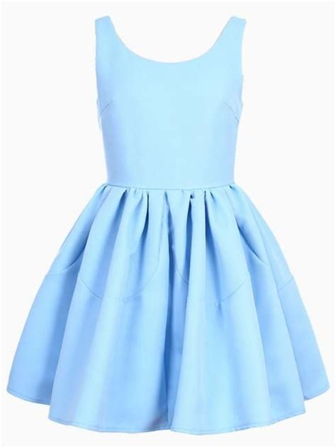 Light Blue Skater Dress by Sleeveless Skater Dress In Blue Choies Clothes I Need
